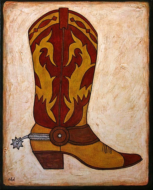 Norman Engel Fine Art Cowboy Boot