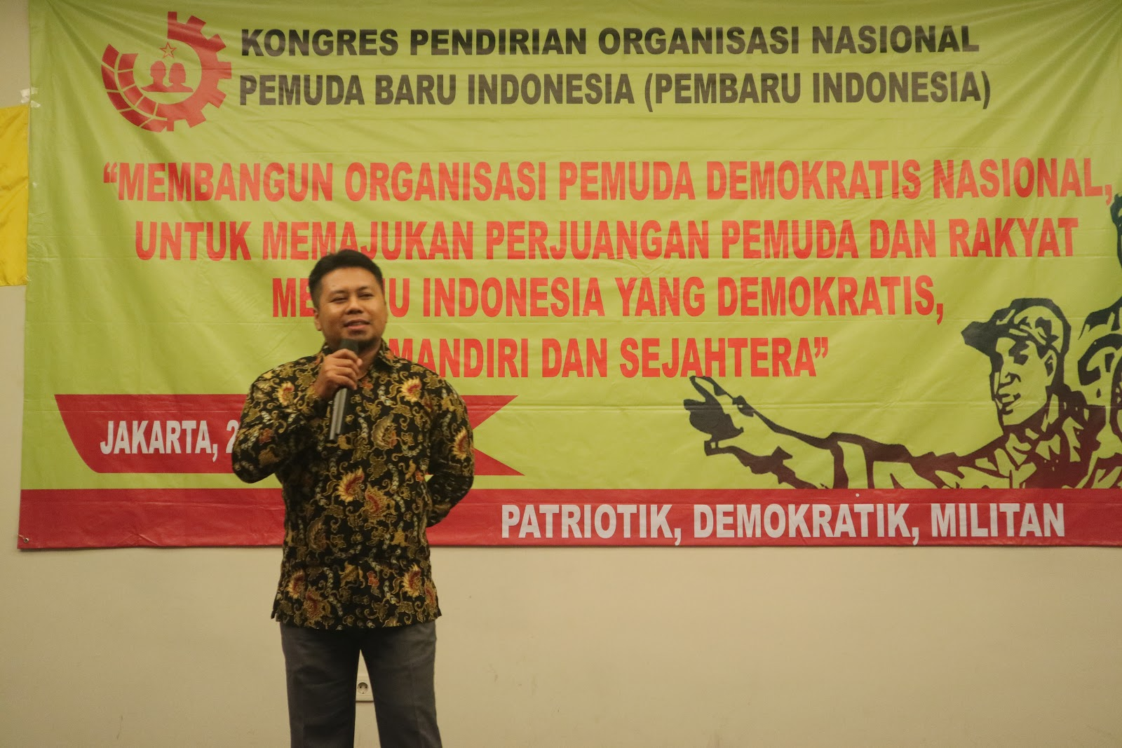 Gsbi Gabungan Serikat Buruh Indonesia Gsbi Berikan Ucapan Selamat Atas Kongres Pembentukan Dan Pendirian Organisasi Pemuda Nasional Pembaru Indonesia