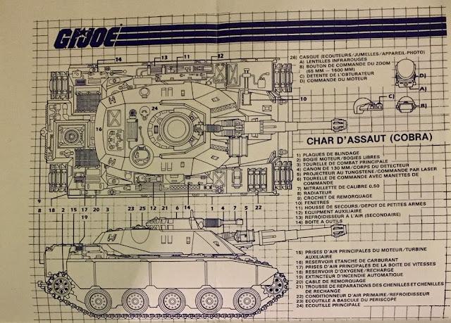 Canadian Consumer Distributing Cobra Combat Tank, blueprints