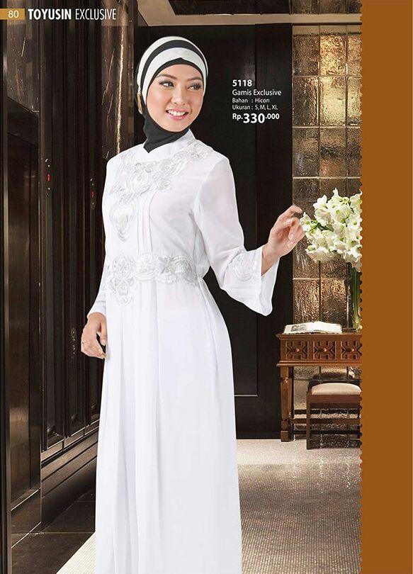 Koleksi Toyusin Gamis Putih Dan Gamis Syar 39 I