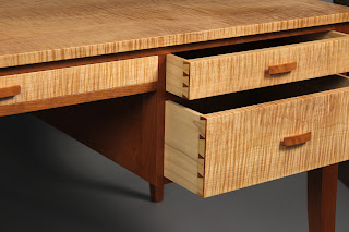 Tiger Maple and Cherry desk