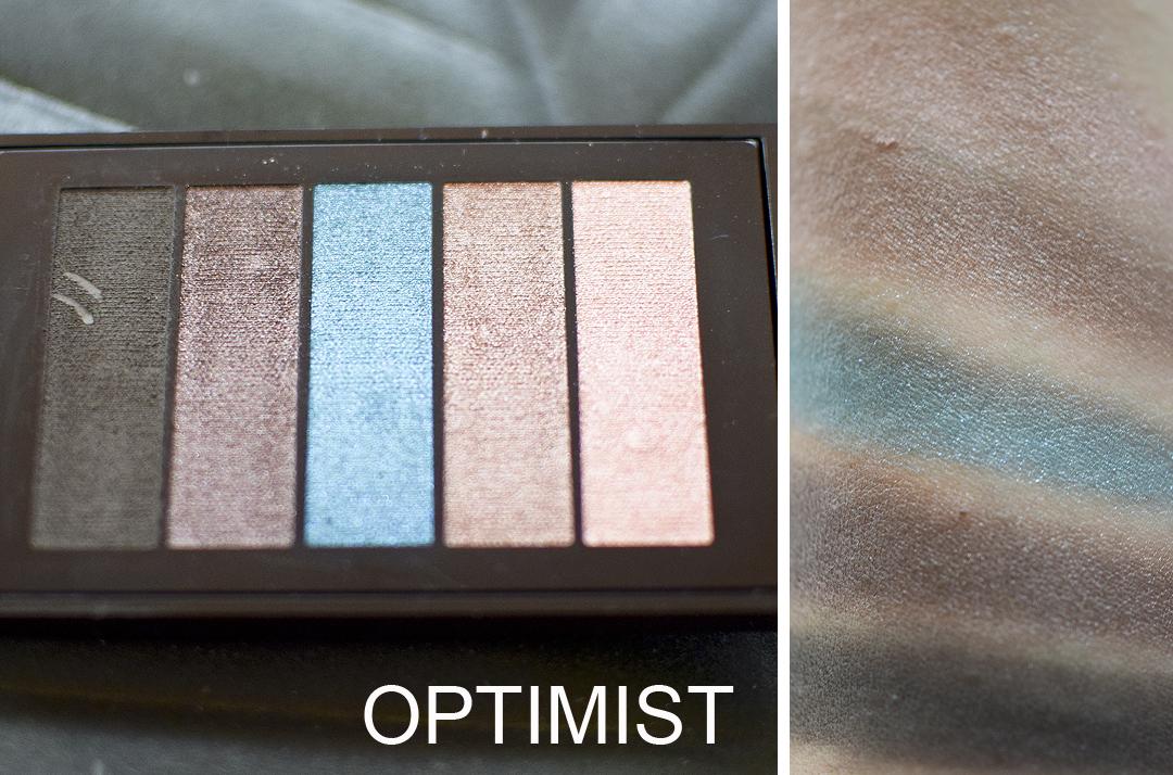 L'Oréal Paris La Petite Palette, Optimist Swatches und Pigmentierung