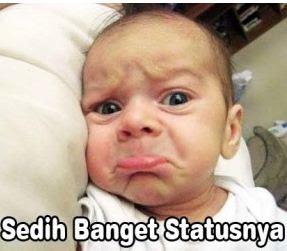 gambar dp bayi sedih lucu