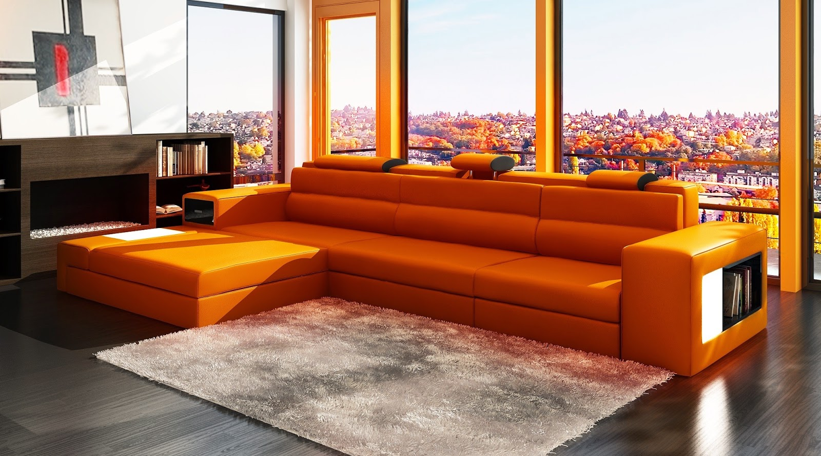 Orange Sofa - Freshnist Design