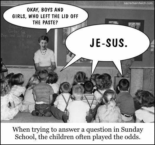 Funny Children Sunday School Jesus Joke Picture