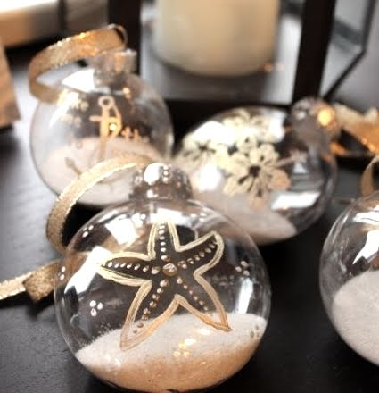 painted clear plastic ornaments