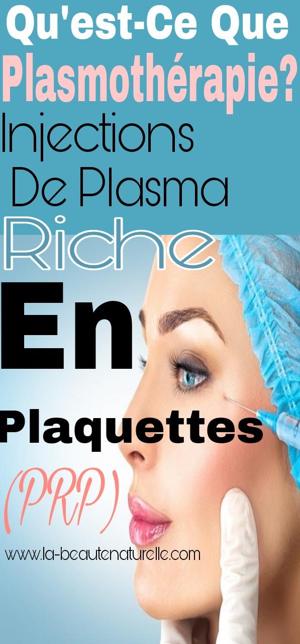Qu'est-ce que plasmothérapie? Injections de Plasma Riche en Plaquettes (PRP)
