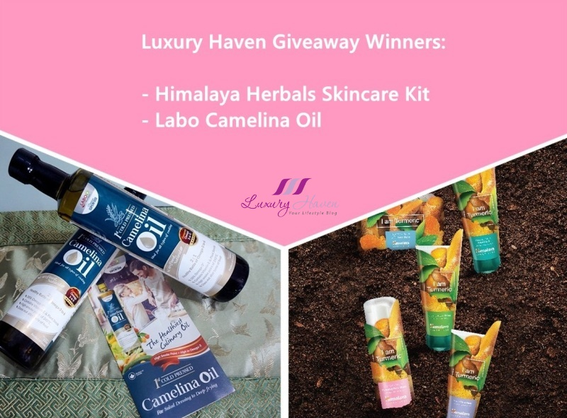 labo camelina oil himalaya herbals skincare giveaways