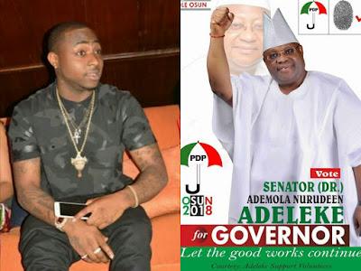 Davido and his uncle, senator Adeleke Ademola Nurudeen