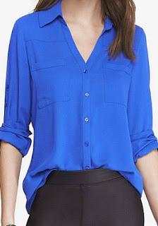 Sydney Fashion Hunter - The Monthly Wrap September 2015 - Sultry Cobalt Portofino Shirt