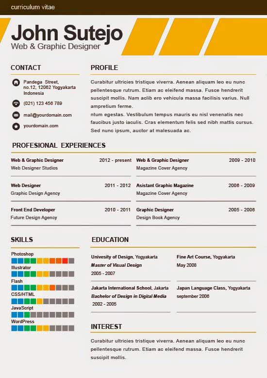 Free Creative Resume Template 02