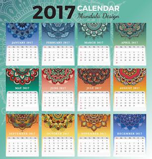 2017カレンダー無料テンプレート121