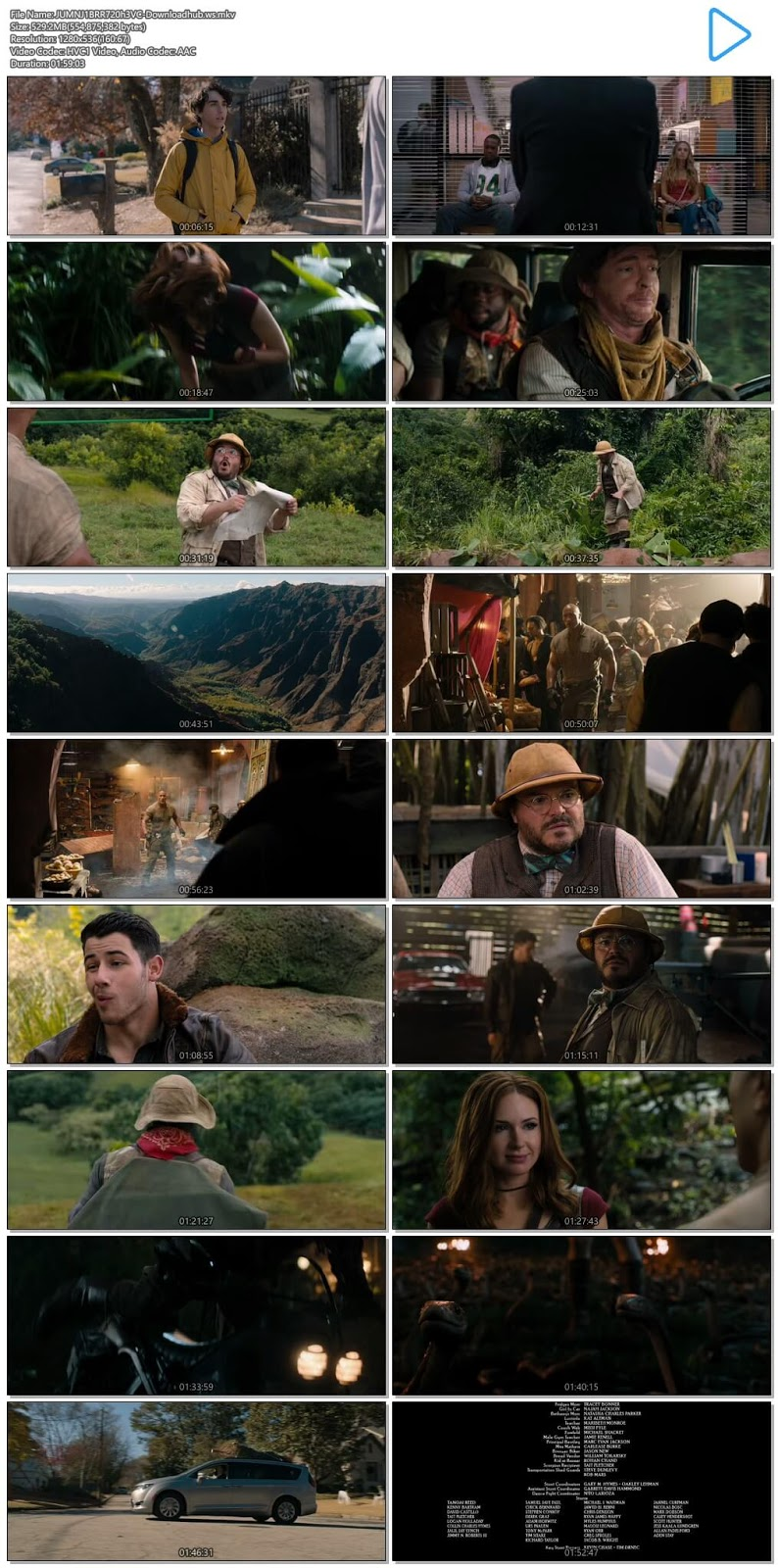 Jumanji Welcome to the Jungle 2017 English 720p HEVC BRRip ESubs