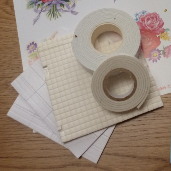 how adhesive squares 3D cards make