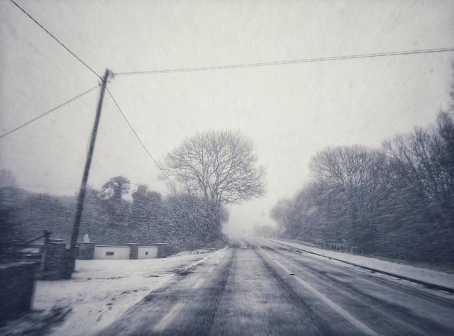 snowy landscape, Ireland, Galway