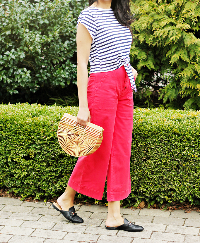 How To Get A Nautical Look, J.Crew Wide Legged Cropped Chinos, Red Wide Leg Pants, Target Kona Mules, Gucci Loafer Mules Dupes, Style Delights Blog, Cult Gaia Ark