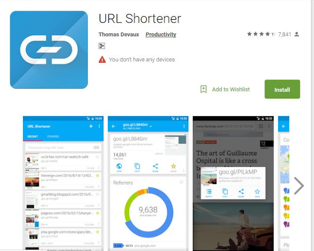 IOS & Android app to shorten URL: