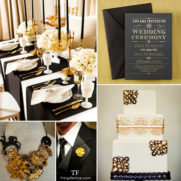 Black And Gold Wedding Decorations: Black And Gold Wedding Inspiration