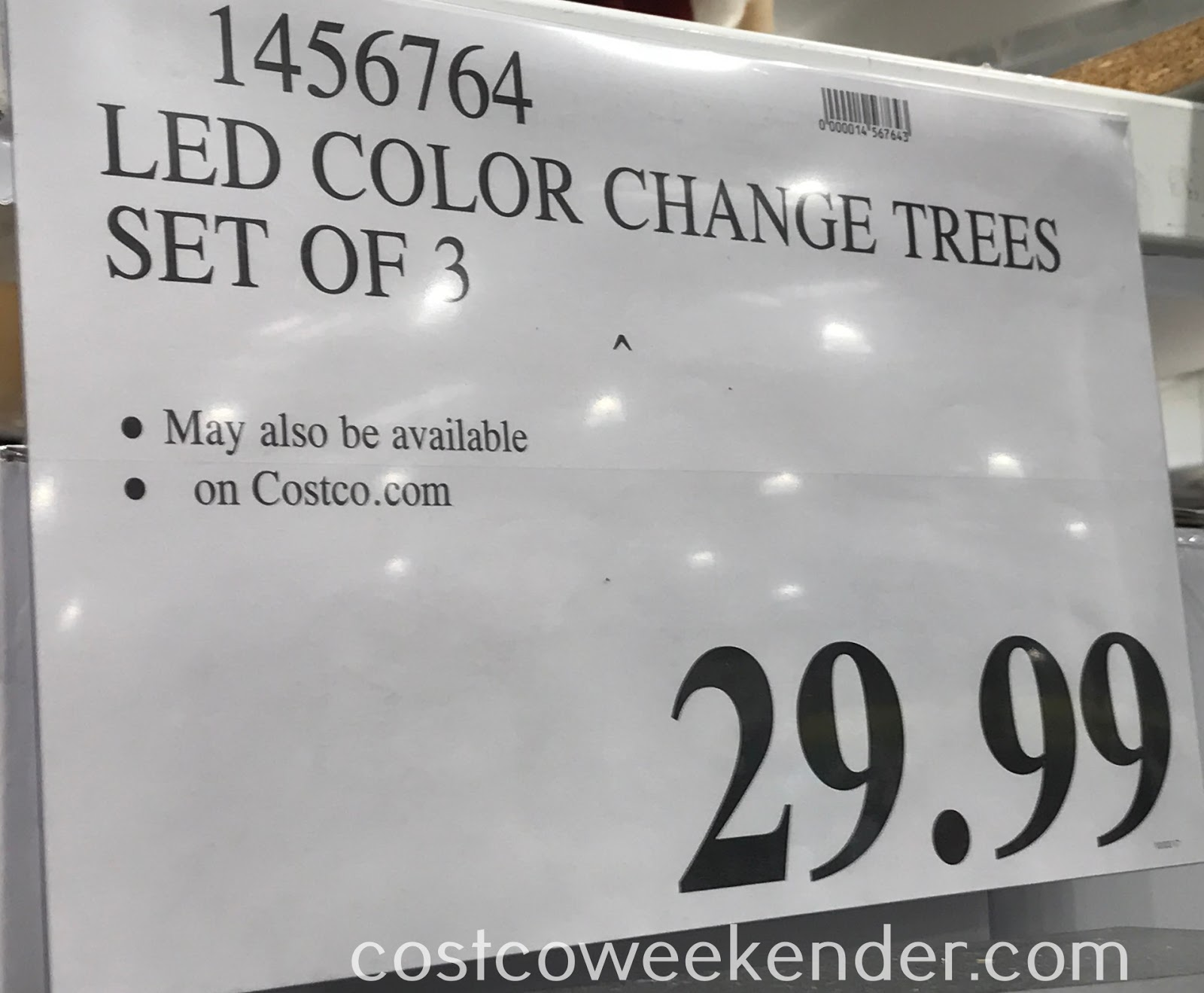 Deal for a set of 3 LED Color Changing Trees at Costco