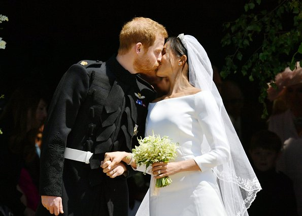 A first kiss Royal Wedding