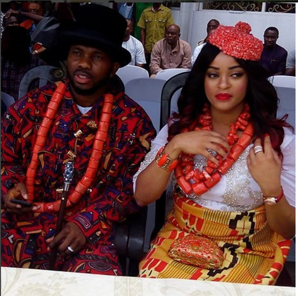 Joseph Yobo And His Wife, Adaeze, Conferred Chiefs [Photos]