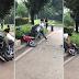 Lalaki, ginulpi ang sariling motorsiklo matapos umanong hulihin ng traffic enforcer