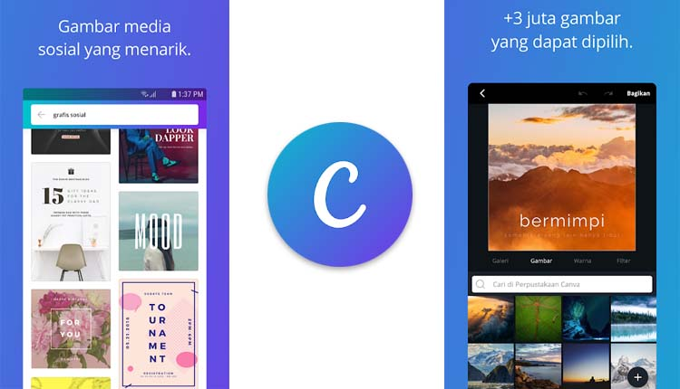 aplikasi wallpaper keren - Canva