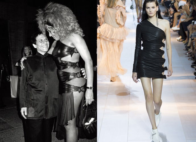 Fashion copycats Azzedine Alaia dress worn by Tina Turner VS Roberto Cavalli Spring/Summer 2016 via www.fashionedbylove.co.uk