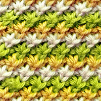 Daisy stitch in the round. The stitch is a great and well written pattern.