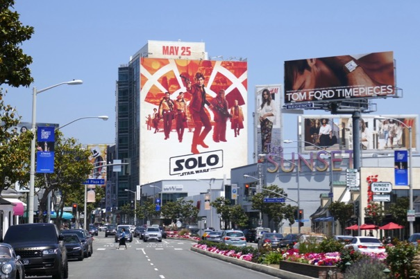 Giant Solo movie billboard Sunset Strip