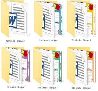 Exámenes del Primer Bimestre Primaria Bloque 1 todos los grados de 1° a 6°
