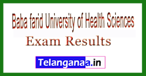 BFUHS B.Pharmacy Ist Year 2018 Exam Results Baba farid University of Health and Sciences Exam Results