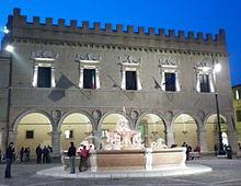 The Ducal Palace at Pesaro, where Francesco Maria II was born