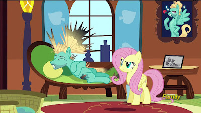 Zapped Zephyr and Annoyed Fluttershy