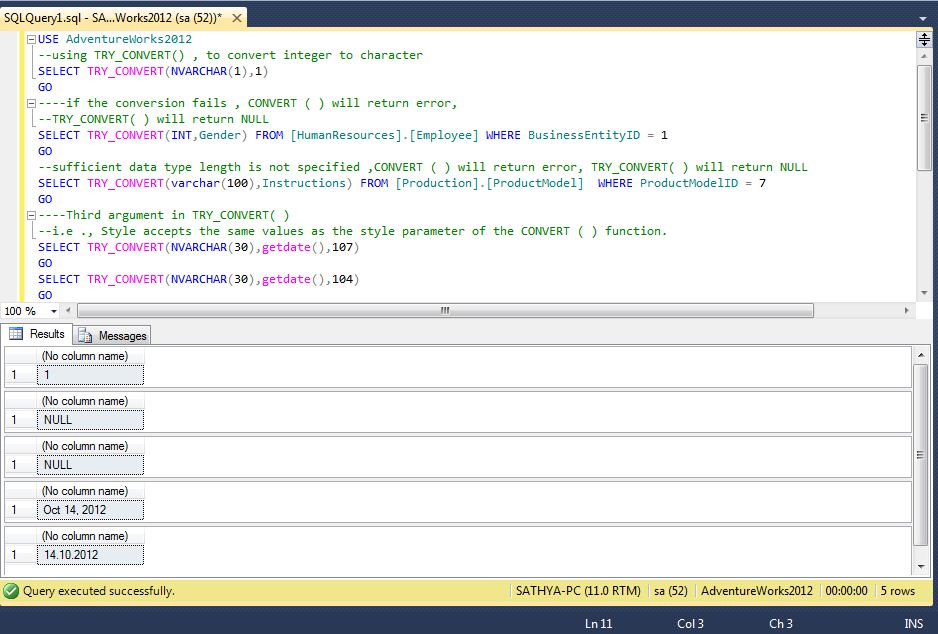 All about SQLServer SQL Server 2012 - TRY_CONVERT( ) -Data type - sql convert