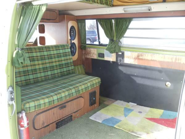 1977 VW Bus Westfalia Camper   vw bus wagon