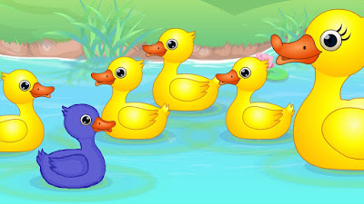 The Blue Duckling - Story with picture and PDF