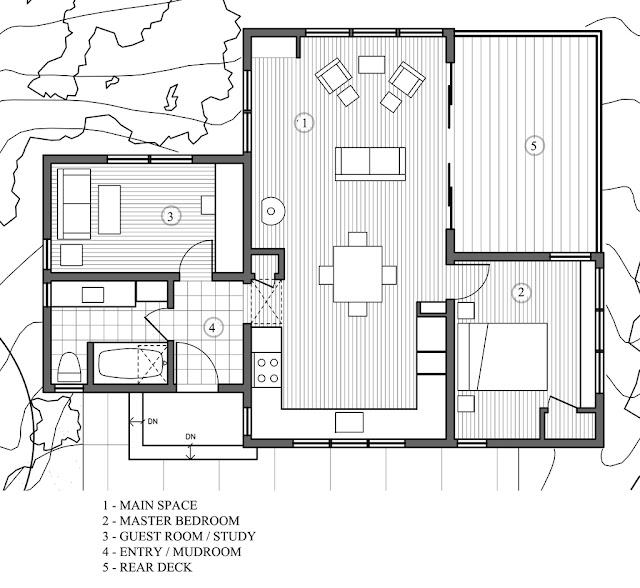 แบบบ้านชั้นเดียว 2 ห้องนอน 1 ห้องน้ำ