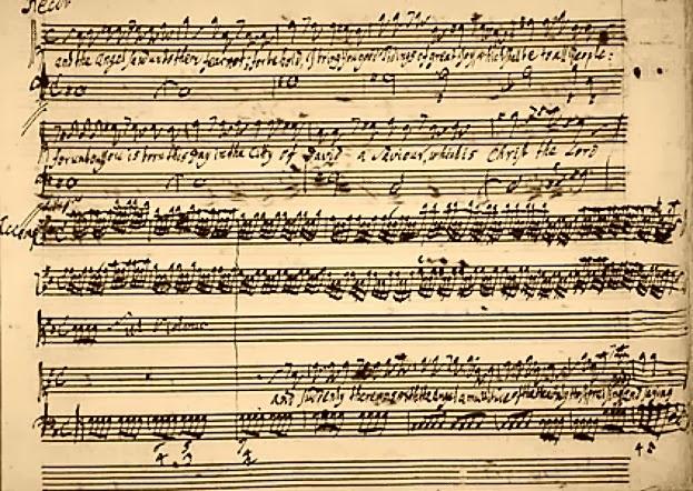 """Manuscrito de George Friedrich Handel de Um Trecho do Oratório """"O Messias"""" (1741)"""
