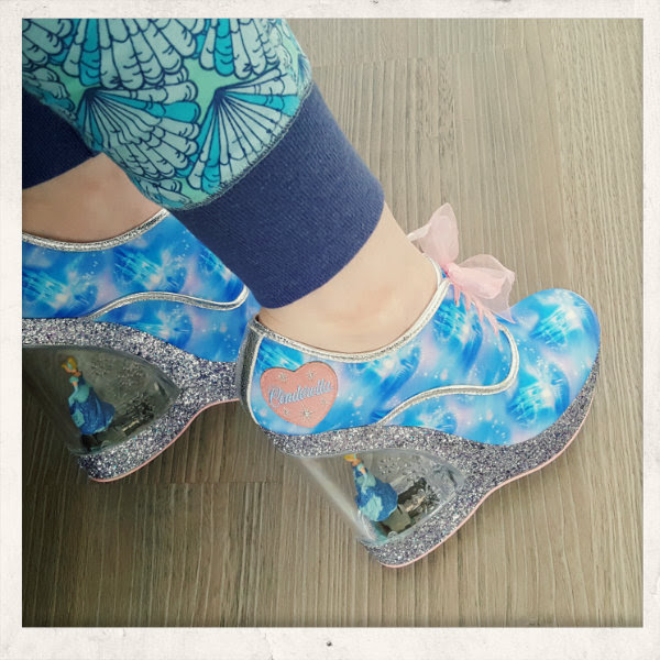 wearing irregular choice call me cinders glitter persepx heels