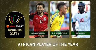 Mohamed Salah leads CAF African Player of the Year award 2017