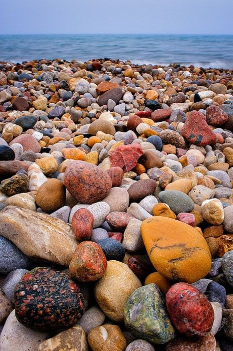 Lake Huron Beach Rocks, Port Huron, Michigan
