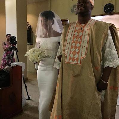 osas ighodaro gbenro ajibade white wedding pictures