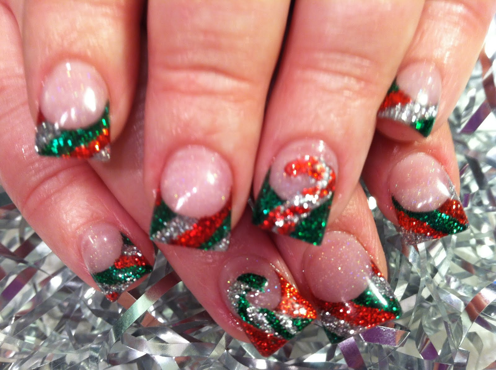 Candy Cane Stripes 3d Christmas Tree Nail Art: 1000+ Images About Christmas Nails On Pinterest
