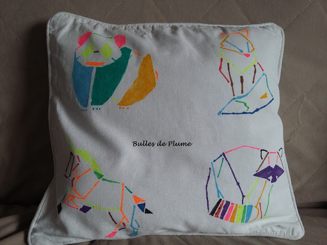DIY - Animaux Origami - Housse coussin