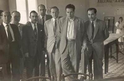 Los ajedrecistas Juan Sola, Matías de Llorens, Viñas, Ribera, García Orús, Albareda y Canut