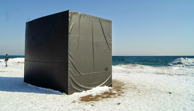The Winter Stations Design Competition at The Beaches in Toronto, art, installations, kew, balmy, warm, culture, artmatters, snow, lake ontario, exhibit, exhibition, the purple scarf, melanie.ps, canada, lifeguard tower, hot box, michaela macleod, nicholas croft