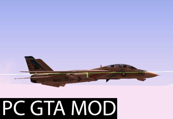Free Download F-14A Pukin Dogs Mod for GTA San Andreas.