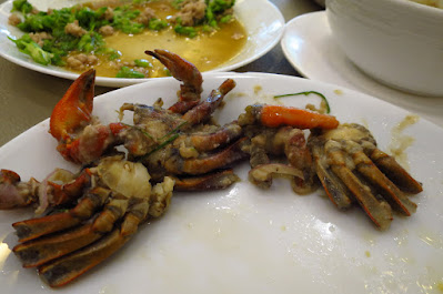 Bangkok, Krua Apsorn, baby crabs