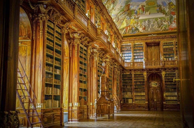 25. The Philosophical Hall, Strahov Abbey, Prague, The Czech Republic - 31 Incredible Libraries and Bookstores Around the World